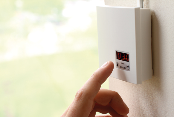Manually activated ventilation with touch timer CTT-W-24V/230V