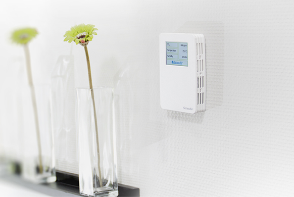 Advanced and effective demand controlled ventilation with CO2-, temperature and humidity regulator T-SENSE-VAV-D